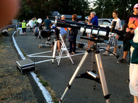 Telescopes Lined Up