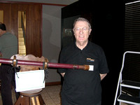 Colin Wyatt, the builder of the replica of Galileo's first telescope