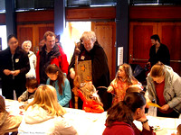 The Astronomy Wizard visits the kids' activity table