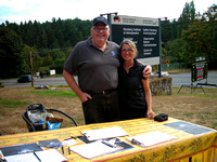 Chris Gainor and MLA Lana Popham at Petition Table