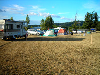 Vehicles & Tents on the Field