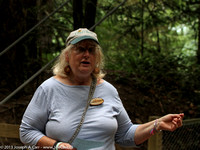 Genevieve Singleton leads the nature walk