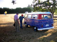 Steve Courtin shows off his Van