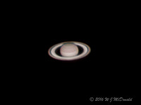 Saturn with rings open