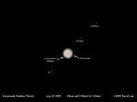 Ganymede Shadow Transit July 22 2009