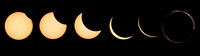 Eclipse phases from start to Totality