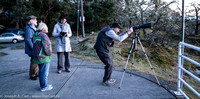 Diane Bell, Colin Scarfe and Barbara Lane chat while Michael Web