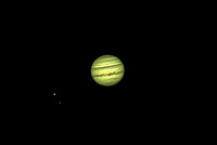 Jupiter, with Io and Ganymede