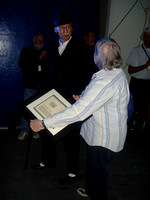 Dave Ballam presents Asteroid certificate to Betty Hesser