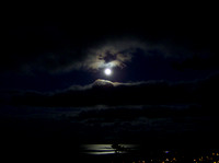 Dec 30 09 Blue moon over Cordova Bay taken from Boulderwood Hill. HP point and shoot. Pamela