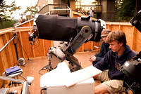 "Mark Wheen showing the imaging upgrades to the Evans Vanderbyl 20"" Newtonian"