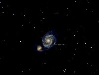 M51, Whirlpool Galaxy with Super Nova
