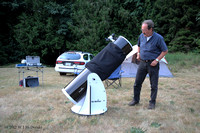 "Bruno Quenneville and his 12"" collapsible Dobsonian"