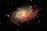 Triangulum Galaxy, M33 with Ha added to RGB image