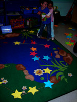 Kids having fun on the indoor starfield