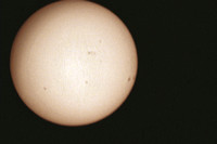 The Sun with Sunspots