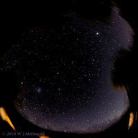 Fish eye view of southern sky