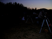 Moon appears over Star Party