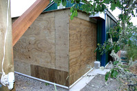 Storage shed North wall