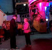 Betty Hesser being presented with her minor planet certificate by Dave Balum