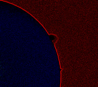 "The ""haystack"" solar prominence in Ha"