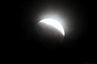 The Moon - a total lunar eclipse - umbral stage