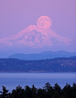 Mount Baker and Moon