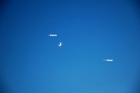 Conjunction of Saturn, the Moon & Venus