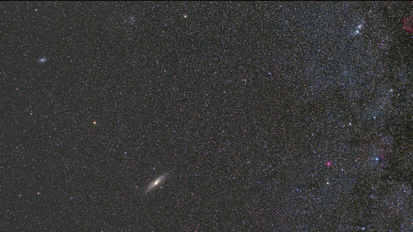 M31, M33 and the Double Cluster