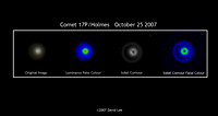 Comet 17P/ Holmes: Luminance and Contour