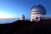 CFHT and Gemini North on Mauna Kea, Hawaii