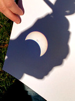 Partial Solar Eclipse - binocular projection