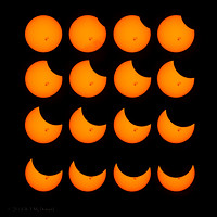 Partial Solar Eclipse sequence