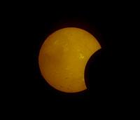 Annular Solar Eclipse - partial eclipse taken in Ha
