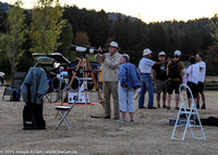 The observing field at dusk on Friday night