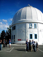 Delegates outside the historic Plaskett telescope