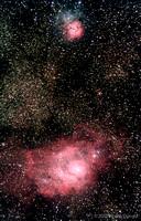 M8 and M20 Nebulae