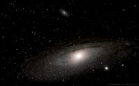 M31, Andromeda Galaxy, M32, M110