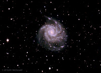 M101 or NGC5457 is also known as the Pinwheel Galaxy
