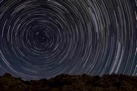 Star trails from the California desert - Oct 13, 2010