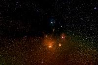 The Rival of Mars, Rho Ophiuchi Nebula