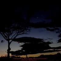 Crescent Moon, Mercury, Jupiter, Mars conjunction - Feb 23, 2009 5am CST