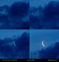 Venus and Moon Occultation - April 22 2009