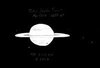 Titan shadow transit of Saturn