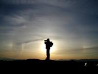 Mount Tolmie sunset and sundogs